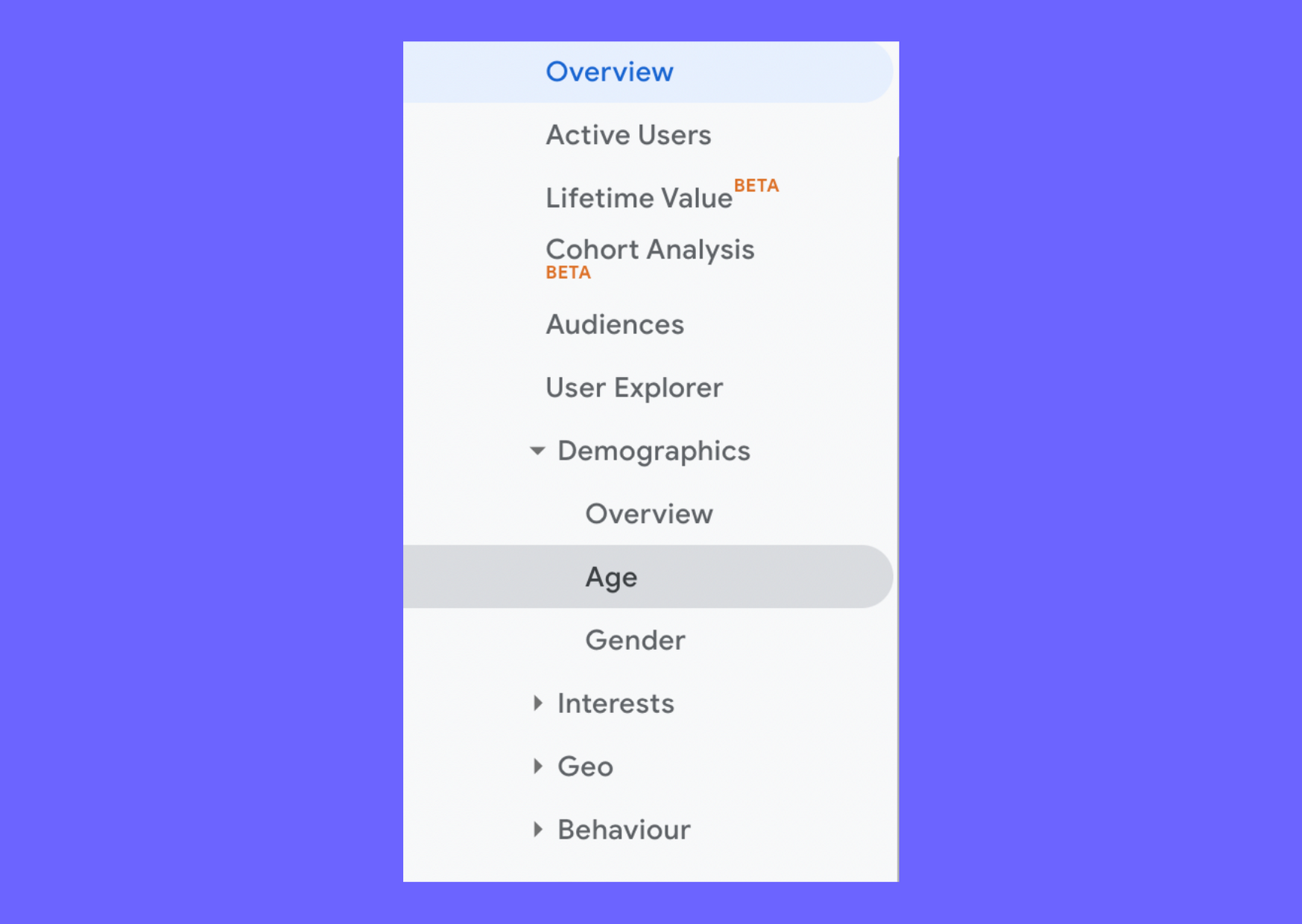 google analytics audience marketing persona